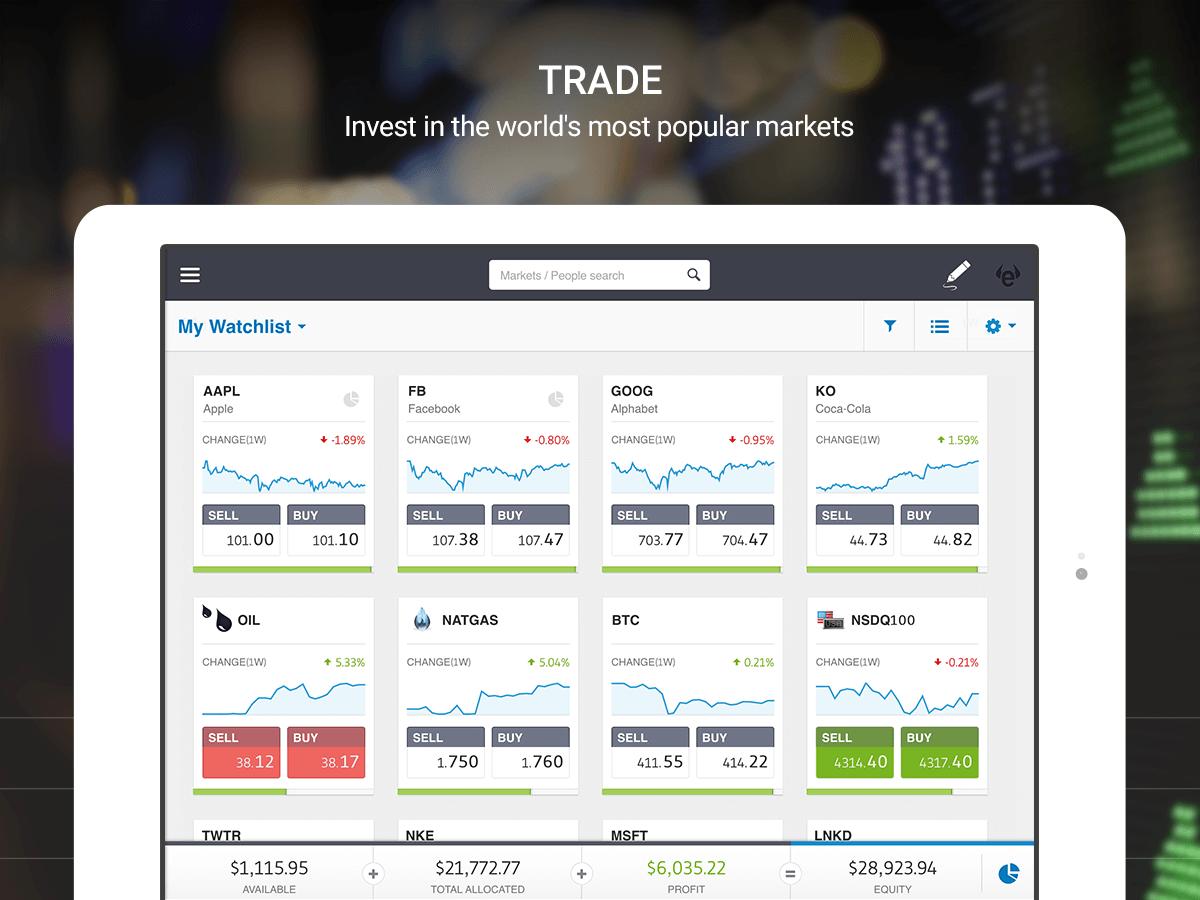 eToro har en par markedets bedste trading-platforme
